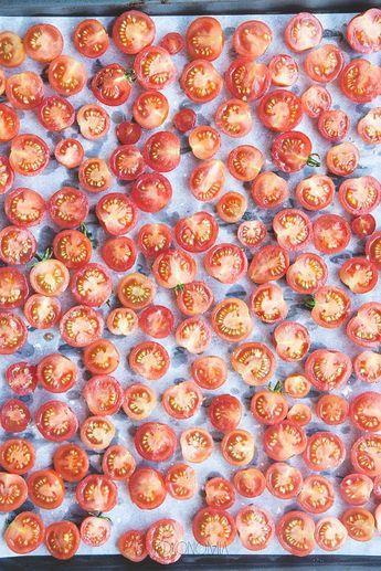 Suszone pomidorki koktajlowe na zimę.