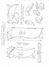 Esquema de modelagem de boina italiana tamanho G.