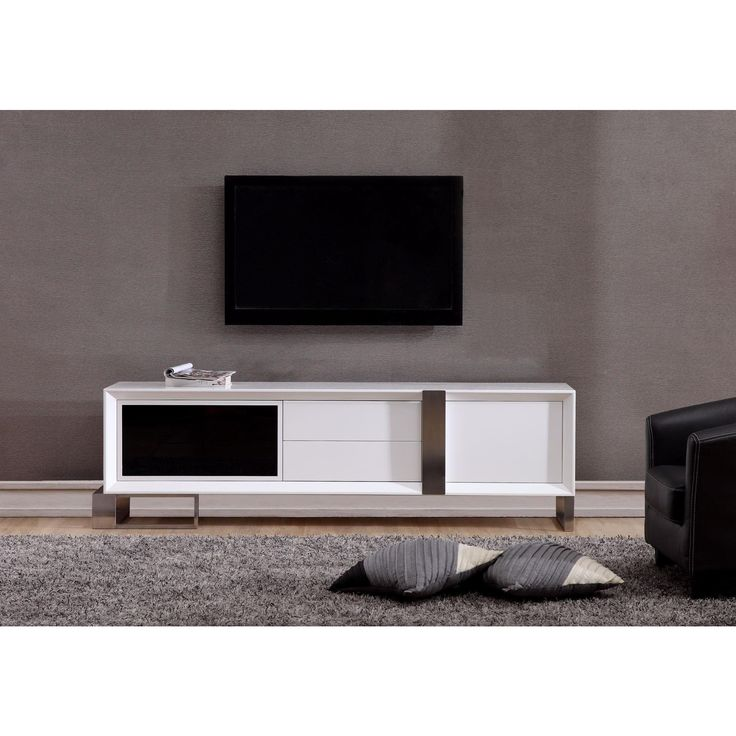 Entertainer TV Stand White S