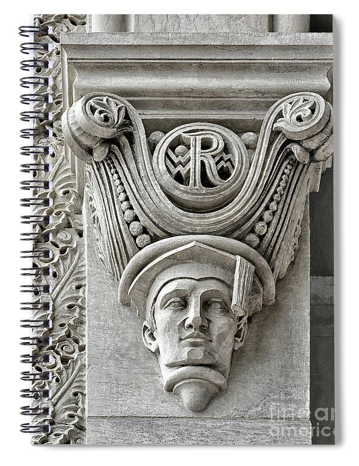 """Rice University Scholarly Senior Gargoyle"" spiral notebook by Norman Gabitzsch, Houston Photographer.  #SchoolSupplies #ArtSupplies #Houston #RiceUniversity #FineArtAmerica"