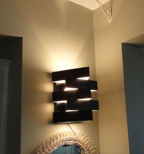 Wall Sconces Plug In Lighting : Modern Black Abstract Triangle Plug in Wall Light Fixture Sconce eBay Ideas Pinterest ...