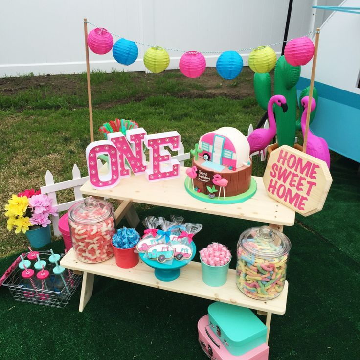 Kitschy Camper Trailer Birthday Party In 2019