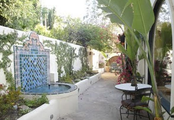 spanish style homes with garden Spanish style Home | Fountain Water Feature | Spanish