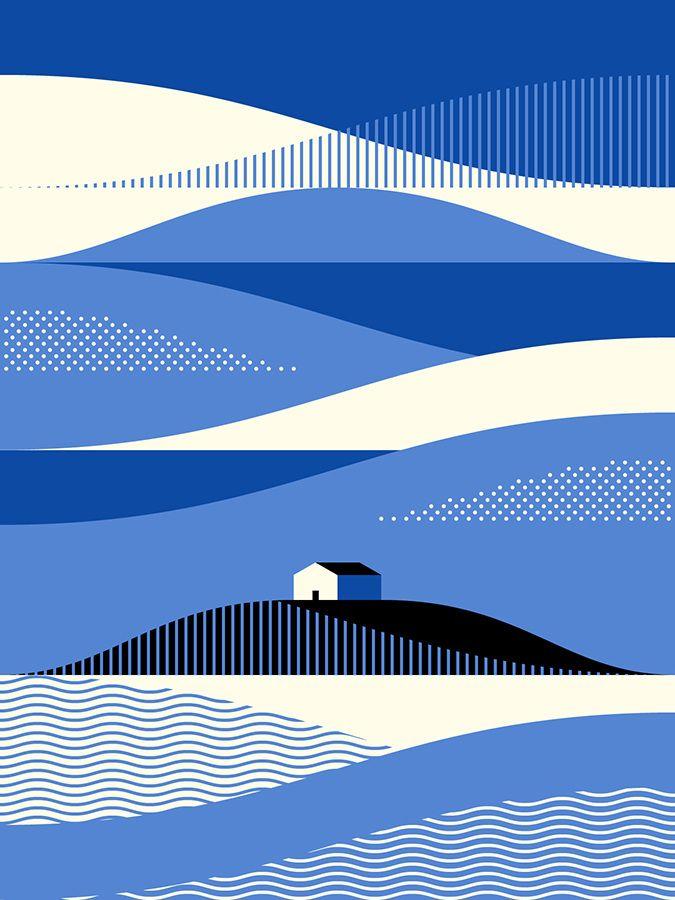 Landscape #graphic #illustration #house