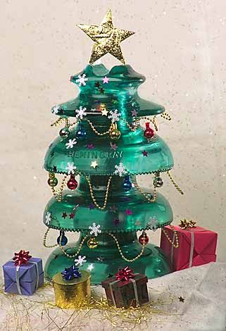 Glass Insulators Projects | Glass Insulator Christmas Tree - Notes from Mona's Valley ...