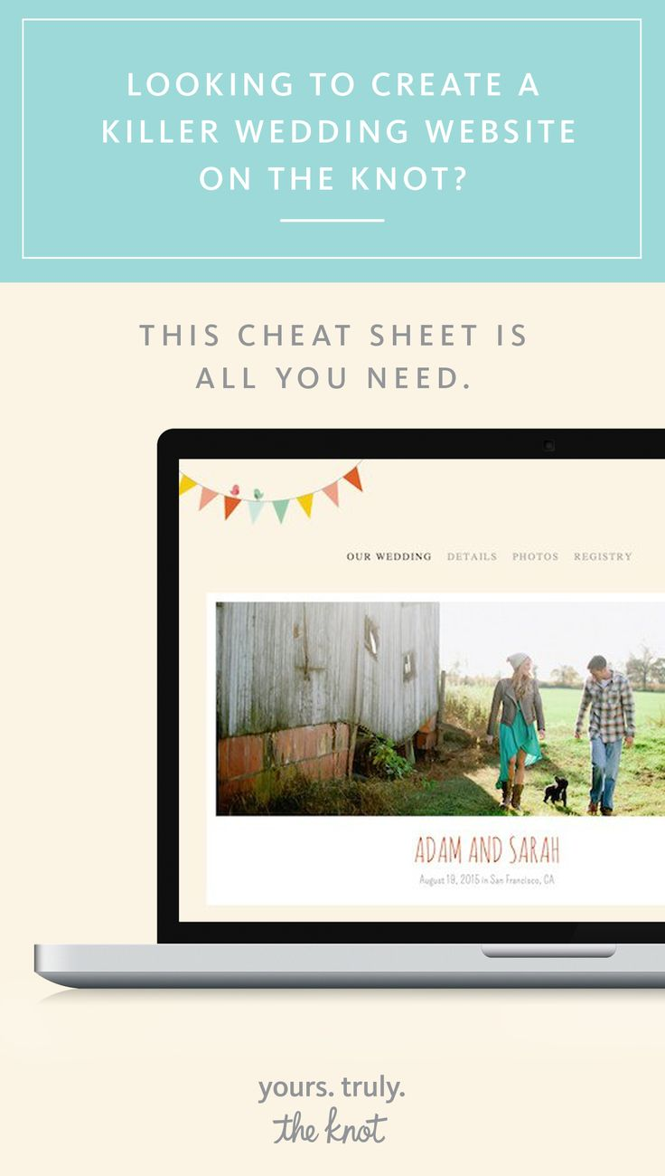 THE KNOT WEDDING WEBSITE - Google Sites