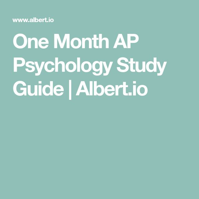 how to study for ap psychology