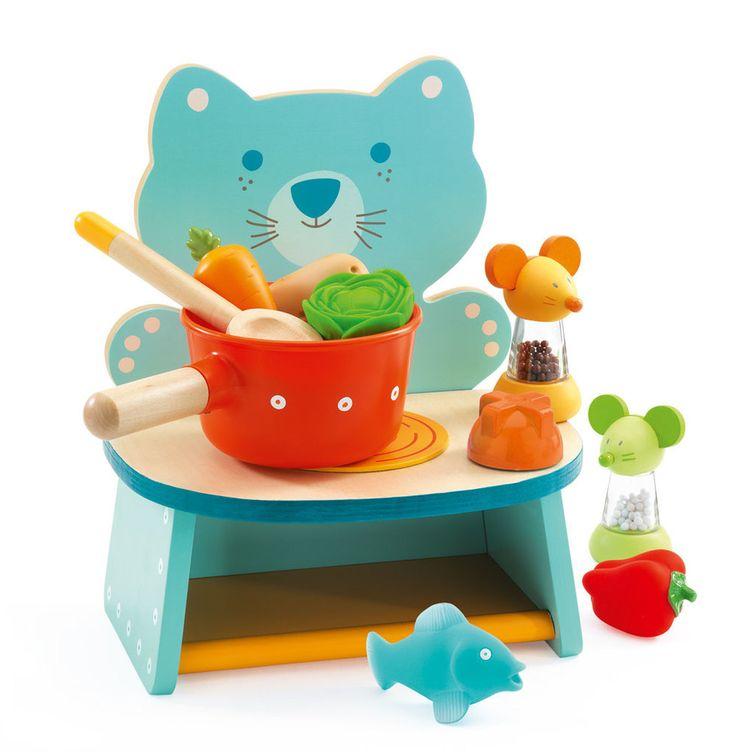 Djeco Felix Cooker   Wooden Toys for Children   Djeco Felix Cooker from BrightMinds UK