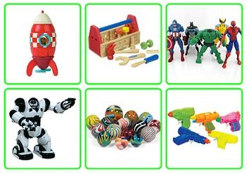 Photo Picture Cards: Toys