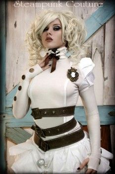 Gorgeous white steampunk