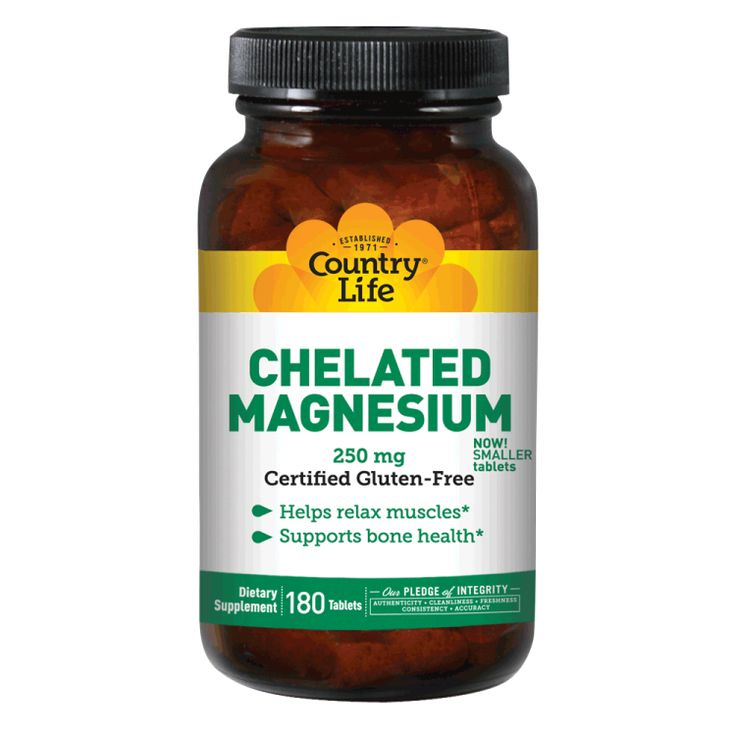 Chelated Magnesium 250 mg  | Country Life Vitamins