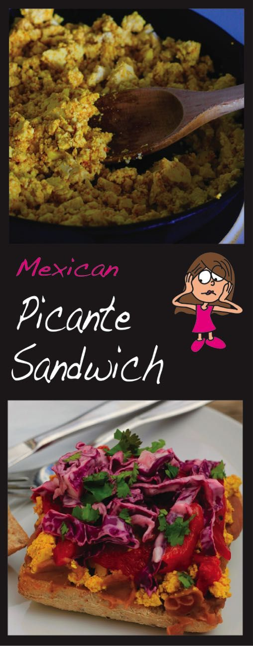 This Mexican Picante Sandwich is protein packed, hearty, flavourful, and a tad bit messy (but oh so worth it!)