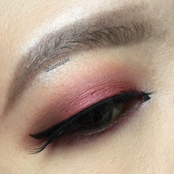 Red smokey eyes | asian | monolid
