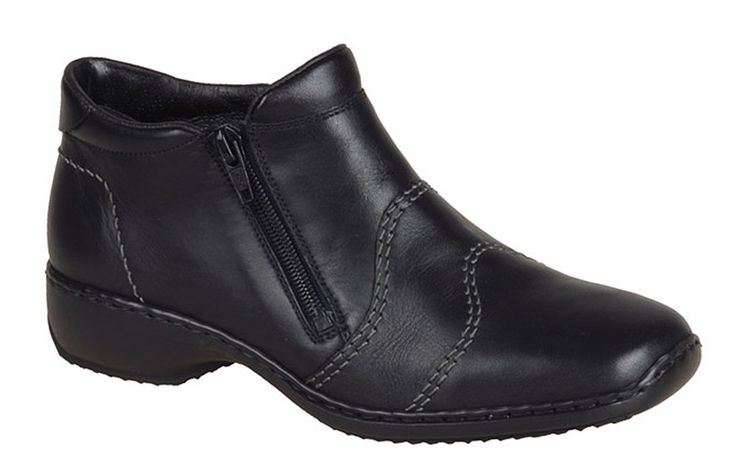Rieker L3892 Ladies Twin Zip Casual Ankle Boot - Robin Elt Shoes  http://www.robineltshoes.co.uk/store/search/brand/Rieker-Ladies/ #Autumn #Winter #AW13