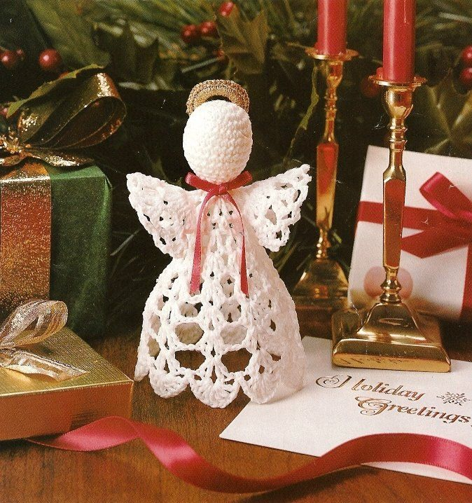 Homemade Angel Christmas Ornaments   free Christmas crochet patterns, Easter crochet patterns, 4th of