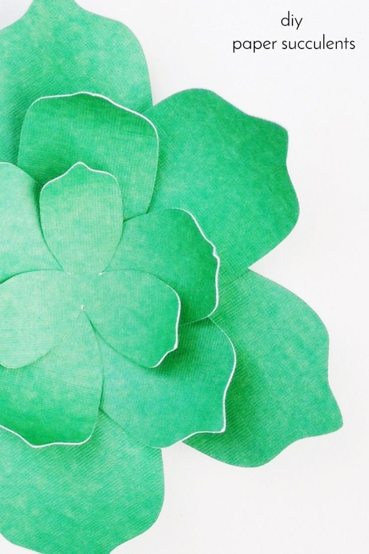 DIY Paper Succulents - Maritza Lisa: Want to create your own paper succulents? Use these free PDF and cut file to create your own. Click through for the tutorial...Silhouette Cameo Project - Paper crafts - freebie - free cut file - free pdf file - paper flower - paper plant - tutorial - Cricut Explore