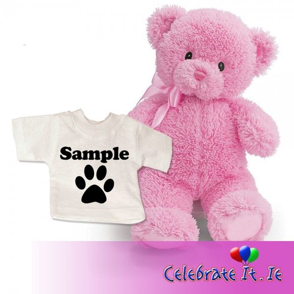 ‪#‎Personalise‬ a ‪#‎teddy‬ bear's t-shirt today! We have a choice of three colours of ‪#‎bear‬: baby blue, baby pink and classic brown.