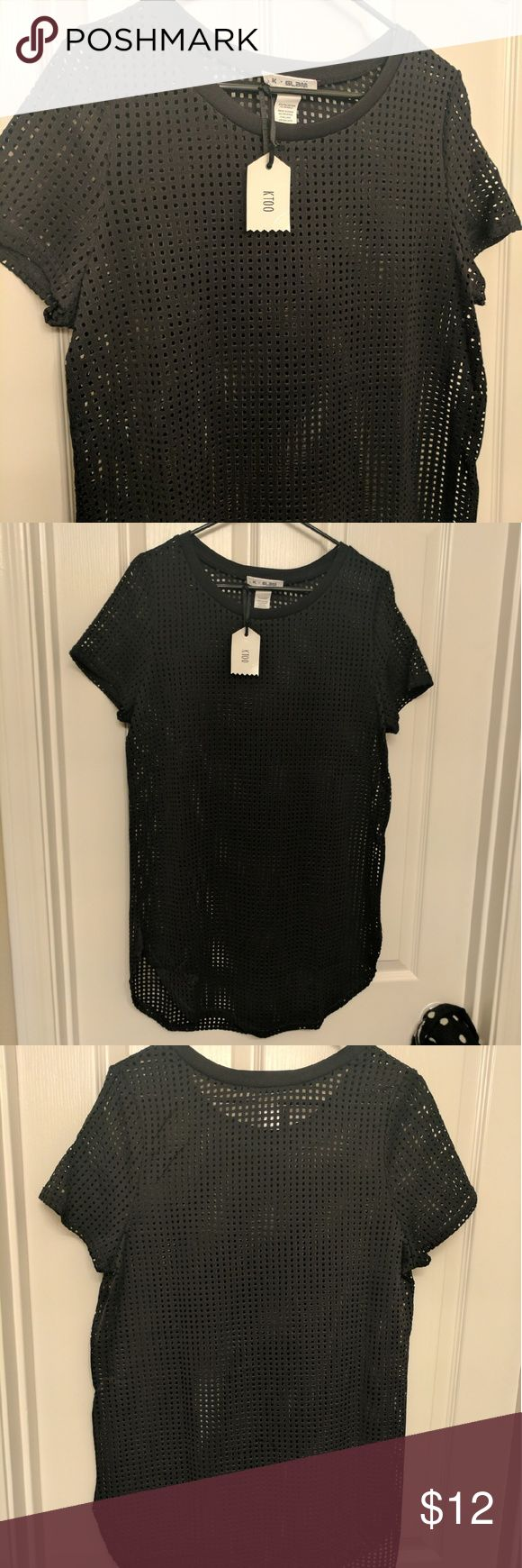 NWT Mesh Top Brand new with tags! Black mesh top.   ***I ship in 3 biz days or less*** Tops