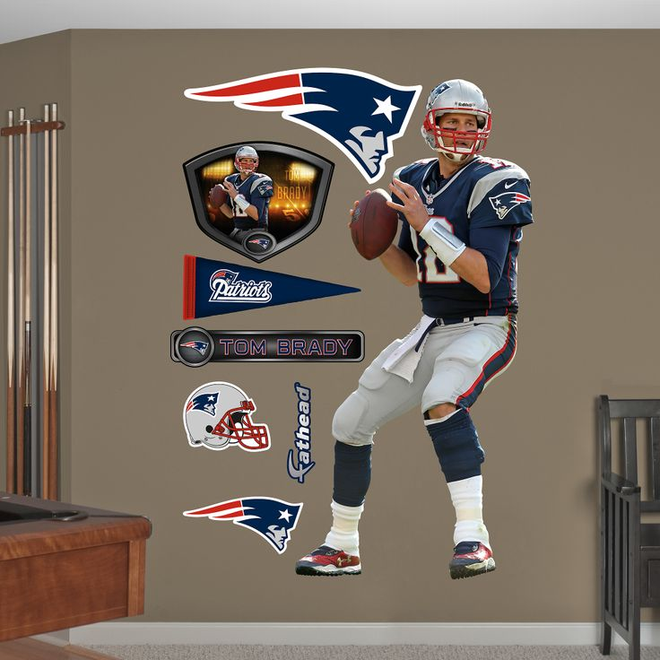 Nfl new england patriots tom brady quarterback wall graphics what is a fathead a fathead is simply the best in class wall décor available