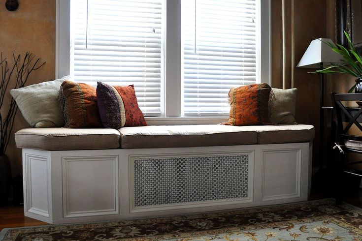 Wooden bay window bench seat 2