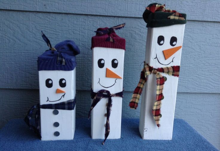 4x4 snowmen wooden snowmen pinterest snowman and 4x4 - How to make a snowman out of wood planks ...