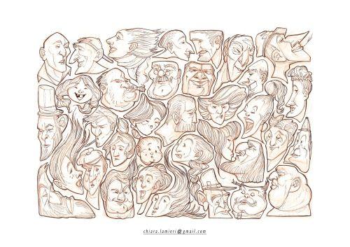 PuzzleFaces, pencil sketch ChiaraLamieri Illustrator   chiara.lamieri@gmail.com http://chiaralamieri.tumblr.com/ https://www.instagram.com/chiara_lamieri