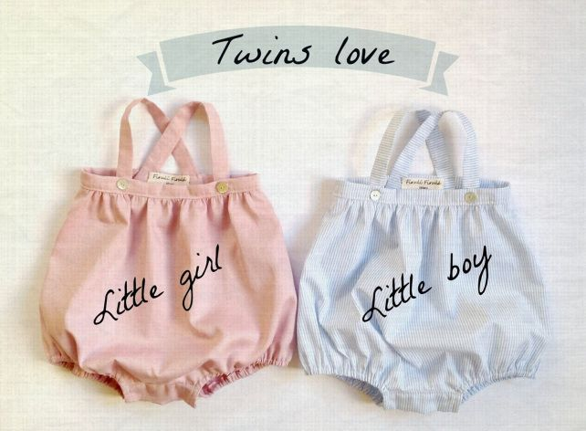 Twins baby clothes by Firulì Firulá