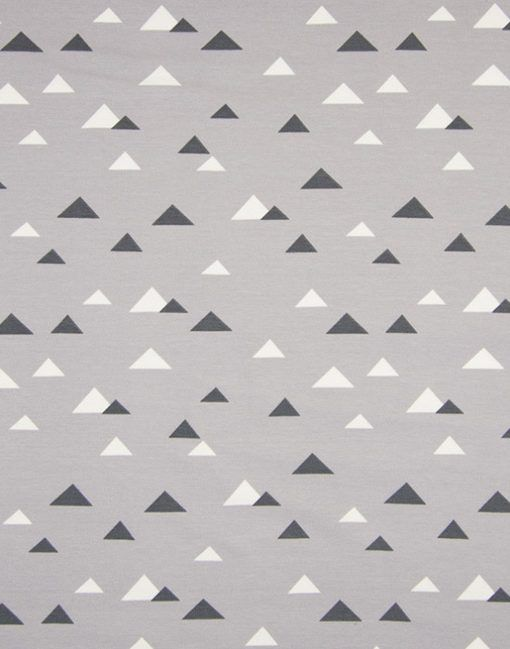 Cotton Jersey Print Arctic Triangles - Main - 104515 - £9.90/m