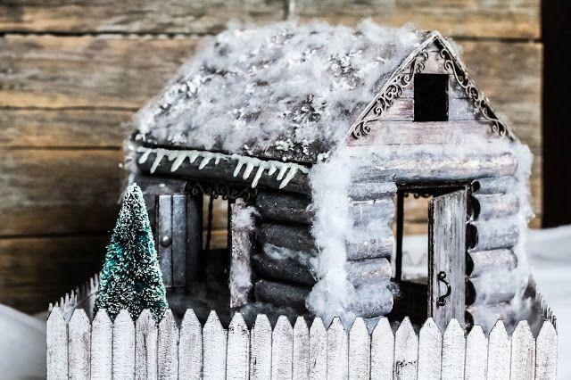 Live with colours: Потолок ледяной, дверь скрипучая)))) Избушка Деда Мороза. МК.