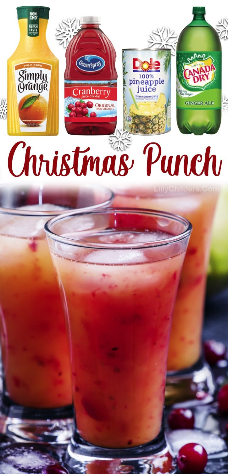 Christmas Ad Non Alcoholic 2020 Christmas Morning Punch   Lilly Childers | Recipe in 2020 | Punch