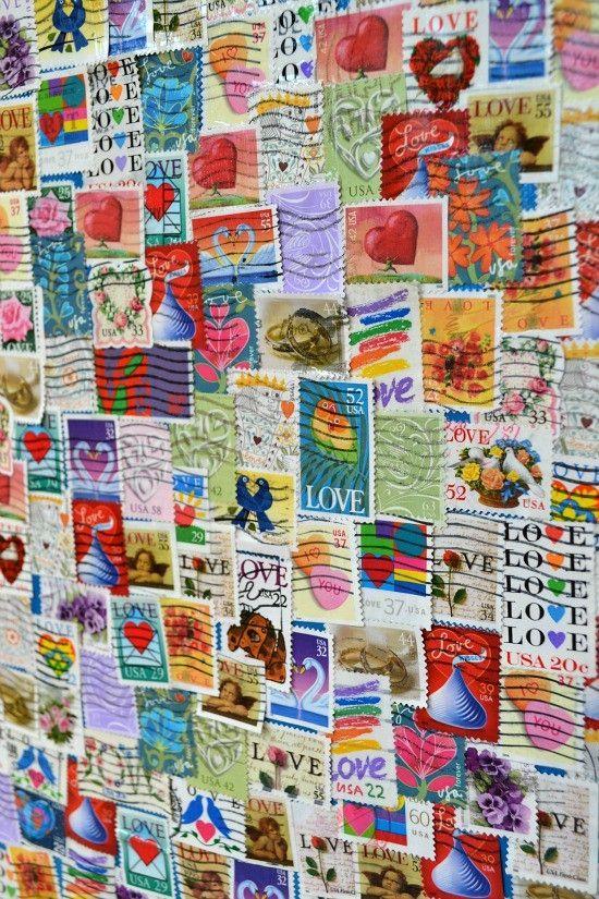 Collage aus Briefmarken #sammeln