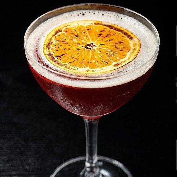 #groundsforseparation @bulleit #rye #whiskey #sweetvermouth #amarolucano #anniversary #campari #smokedorange #cocktails #cocktailporn #cocktailsofinstagram #bartender @theqrandbnapa #napa #california #northbay #drinkme #gentlemandrink #instagram #instadaily #drinkporn