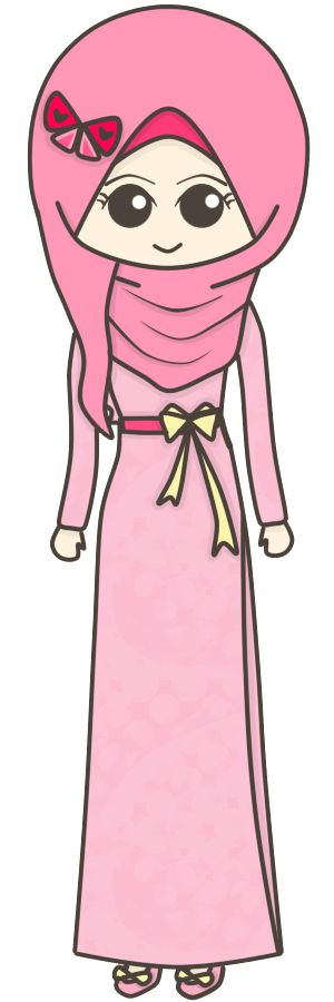 Pinky girl muslim