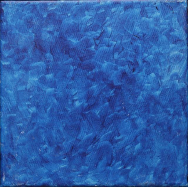 Françoise Sullivan, Ocean 00, 2006, acrylic on canvas, 8x8 © Courtesy Corkin Gallery