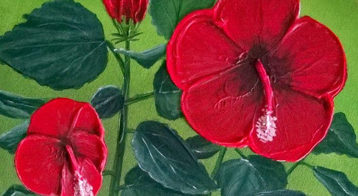 Kostenfreier Blumen-Malkurs für Acrylfarben. Probiert es aus!