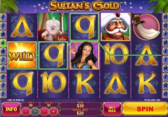 "Newtown Casino Slot Game ""Sultan's Gold"", Let's Find The Treasure! http://newtown-casino.com/"