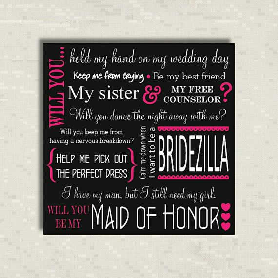 Will You Be My Maid of Honor Proposal Card by BitsnPiecesEvents, $7.00