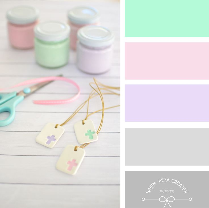 pastels... μαρτυρικά, βάπτιση.. color palette