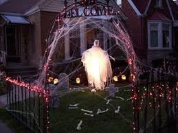 ghost lighting halloween outdoor decorating ideas home trends design photos home design picture at home design and home interior - Halloween Outdoor Decorations Ideas