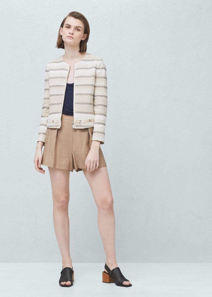 Veste jacquard coton | MANGO