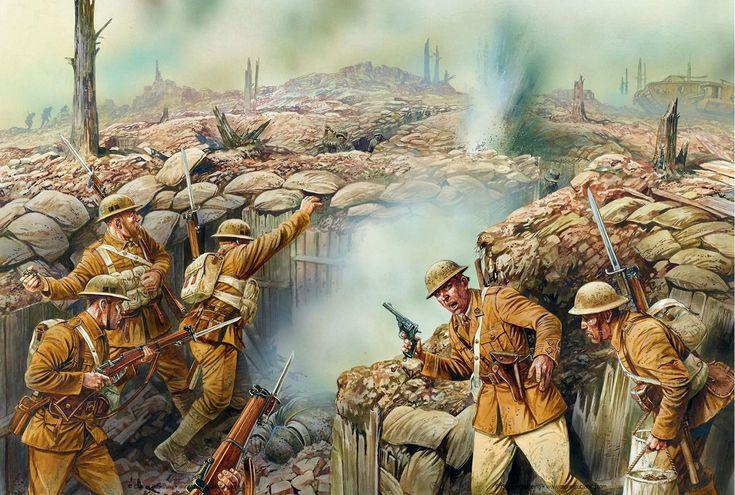 Nueva imagen de la lucha en las trincheras del Somme, por Peter Dennis. Más en www.elgrancapitan.org/foro