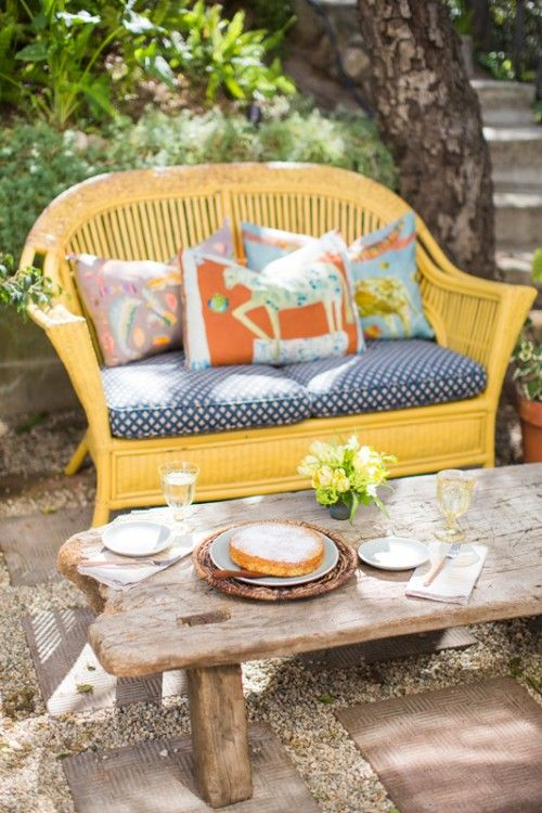 wicker love, rustic table and colors #Anthropologie #PintoWin