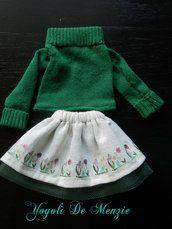 Completino invernale per la bambola di pezza Yoyolì