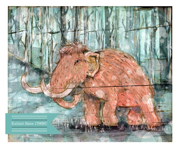 Extinct #2 The Wooly Mammoth -   Kerri-Jane Mitchell illustrations