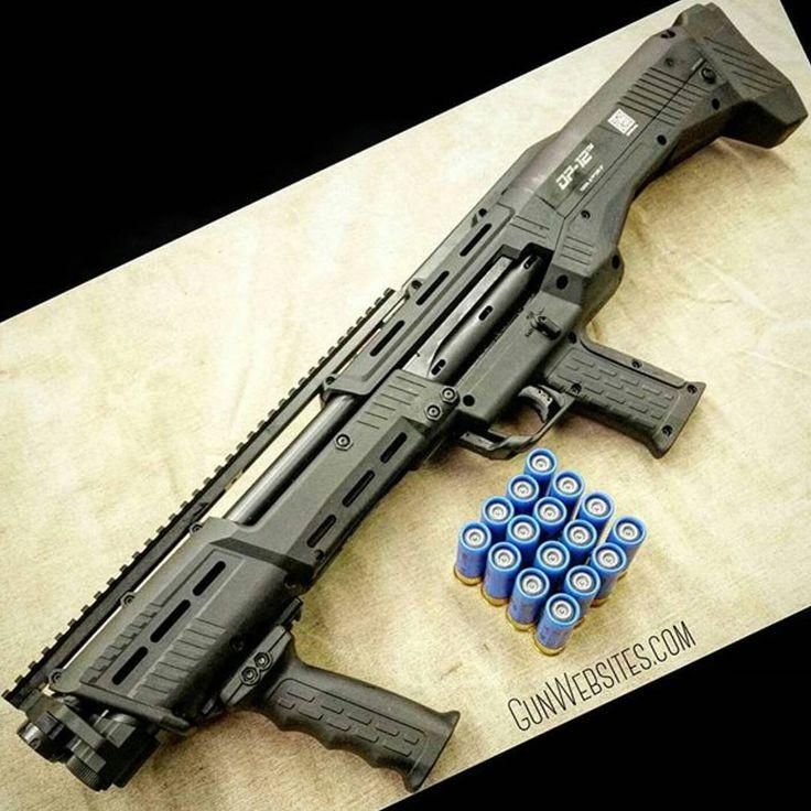 DP-12 Double barrel pump shotgun, overkill in a good way.