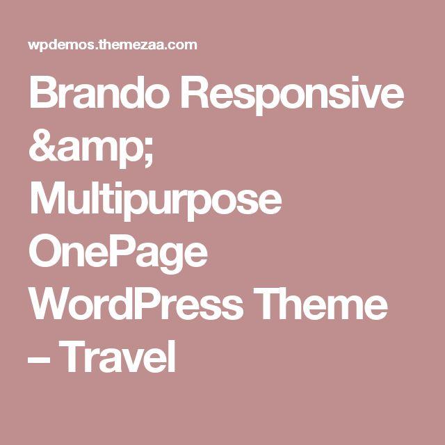 Brando Responsive & Multipurpose OnePage WordPress Theme – Travel