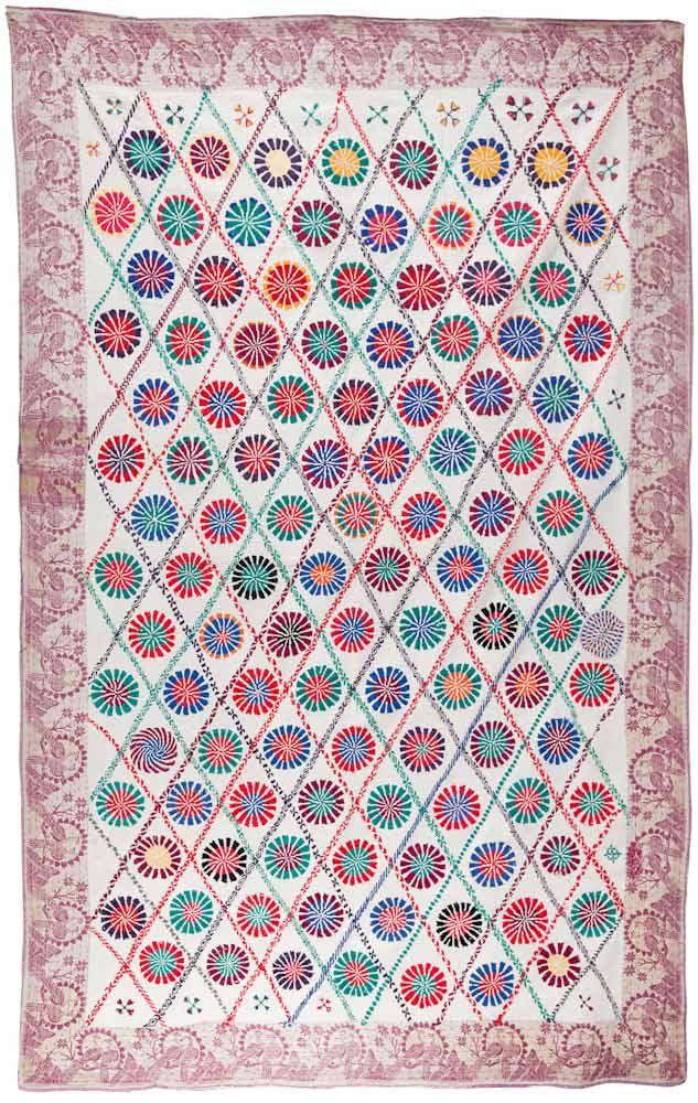 """From the Finn Collection Kantha-(Lep)-No.-158.jpg PRICE: Inquire Fig. 07-47 NAME: Lep Kantha CIRCA: Early 20th Century FROM: Murshidabad, West Bengal SIZE: 49.5"""" x 78"""" (125.73 cm x 198.12 cm) This …"""