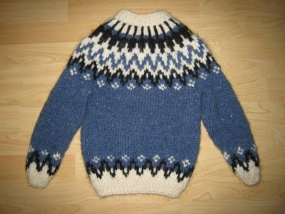 FREE PATTERN AND DESCRIPTION - How to knit a Icelandic Sweater