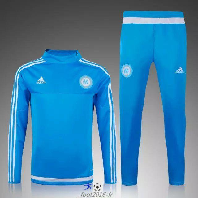 site officiel Nouveau Survetement de foot Marseille OM Bleu Clair 2015 2016 decathlon