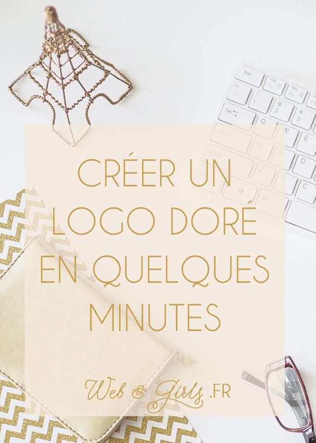 Créer un #logo doré en quelques minutes pour son #blog #branding #blogging